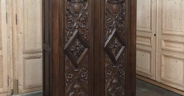 19th Century Italian Renaissance Walnut Armoire Inessa Stewart S Antiques Renaissance Furniture Armoire Renaissance