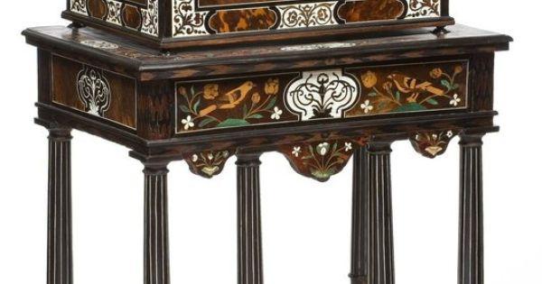 coffret sur pi tement pierre gole attribu menuisier b niste paris 1655 1665 vers. Black Bedroom Furniture Sets. Home Design Ideas