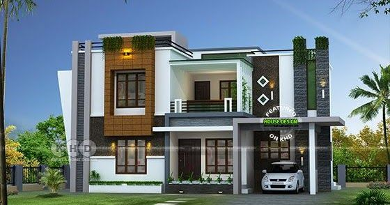 2352 Sq Ft Awesome Contemporary Kerala Home Design Kerala House Design House Design Pictures Model House Plan