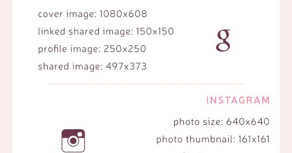social media image sizes - optimize images for facebook, twitter, pinterest, instagram, etc.