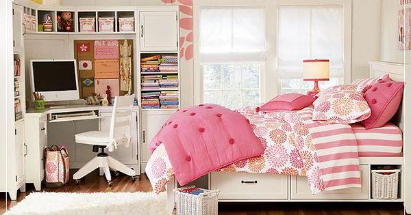 Teen Bedrooms - Ideas for Decorating Teen Rooms  Home  Pinterest  침실 아이디어