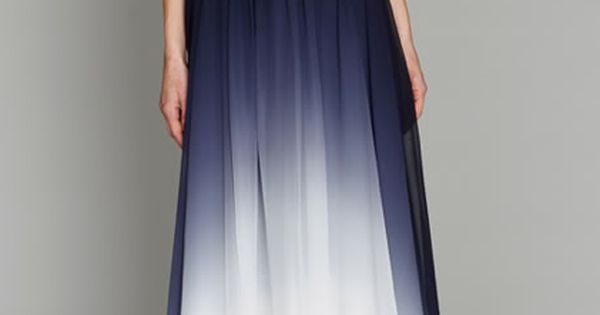 dress blue white dip blend maxi maxi dress long elegant navy silk