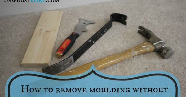 How to remove moulding without damaging wall or trim diy