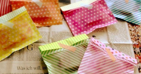 100均折り紙で透け感のある封筒 ...