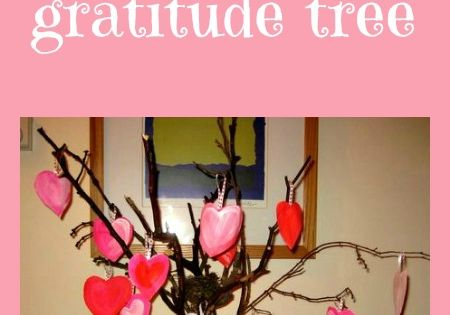 A Valentine crafts that encourages writing - make a Valentine's gratitude tree
