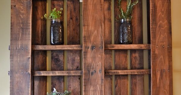 pallet shelves - great idea!