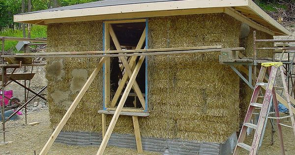 Straw bale shed best straw bales garage studio and for Straw bale garage plans