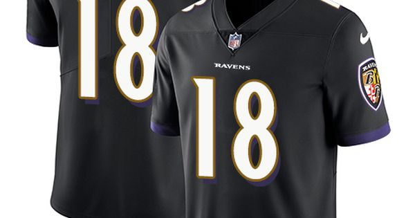 6f4addb916a7 ... Mens Nike Baltimore Ravens 18 Jeremy Maclin Black Alternate Vapor  Untouchable Limited Player NFL Jersey 24.99 ...