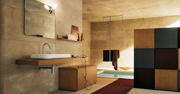 Dusche Decke Fliesen : ... großformatige Badezimmer Fliesen-Sandstein ...