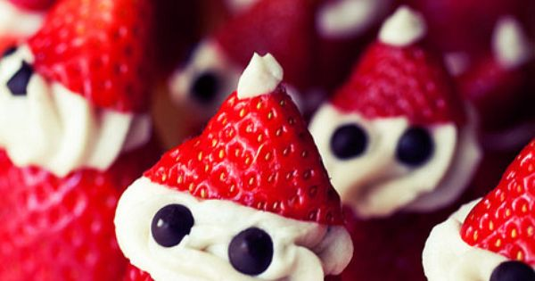 A healthy Christmas treat: Strawberry Santas (w/ coconut milk frosting)