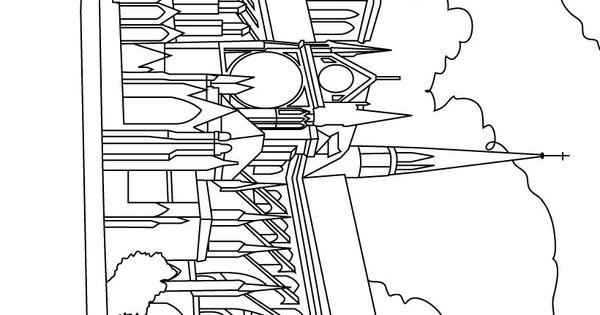Cathedral Notre Dame Coloring Page