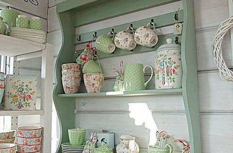 Shabby chic, Kitchen accessories and Polka dots on Pinterest