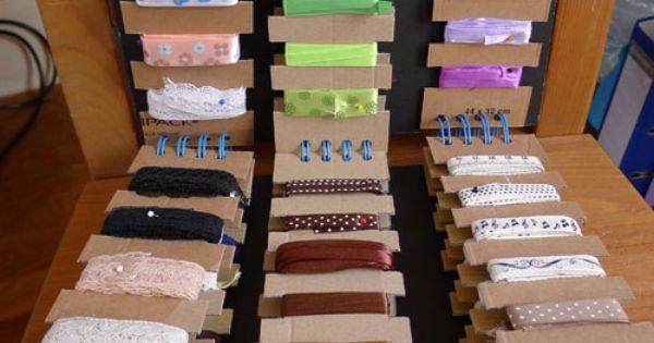 Astuce rangement pour les rubans biais passepoils et for Rangement pour couture