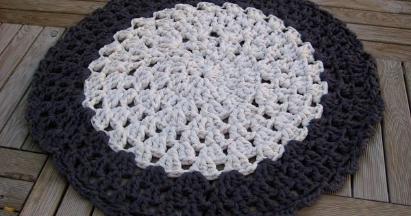 Alfombra de trapillo Crochet XXL Pinterest Trapillo, Search and ...