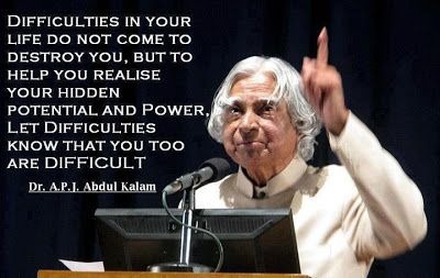 Dr.A.P.J Abdul Kalam's Inspirational Quotes Images HD