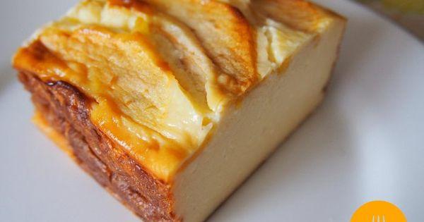 Tarta de queso con manzana 200 ml nata l quida 1 manzana - Nata liquida para postres ...