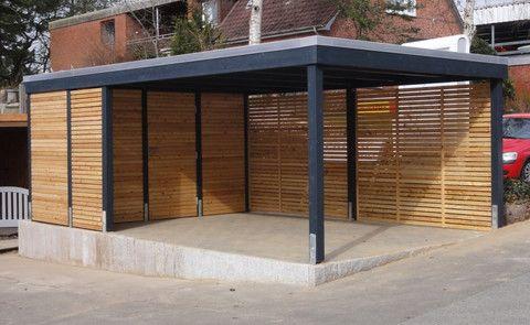 carport kiel hamburg und neum nster aus holz und stahl carport pinterest g rten. Black Bedroom Furniture Sets. Home Design Ideas