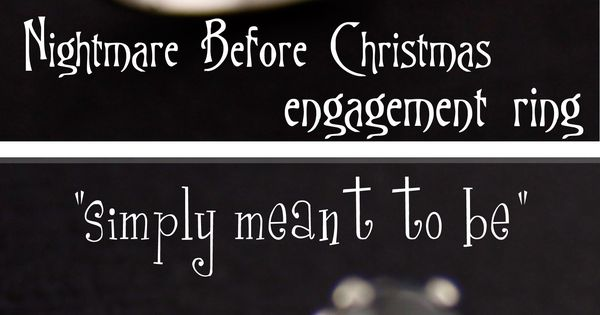 Nightmare Before Christmas Engagement Ring | Christmas ...