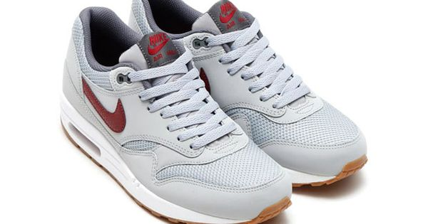 ... nike air max 1 wolf grey team red gum just do it pinterest ...