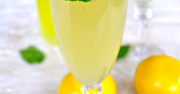 Meyer Lemon Proseco with Limoncello (if there is alcohol, take it out