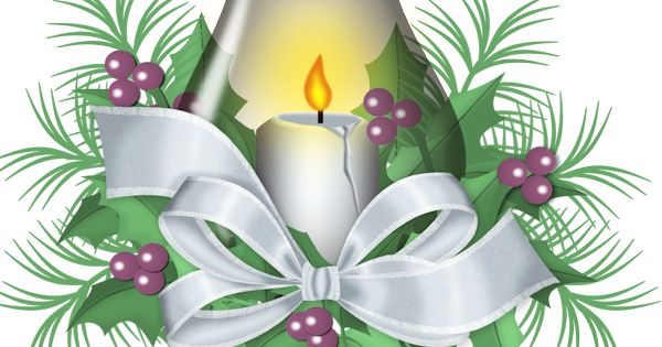 Noel, Christmas candles and Clip art on Pinterest