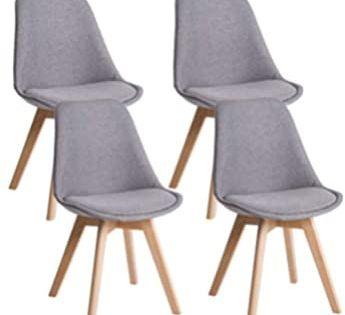 MCTECH® 4er Set Esszimmerstühle Besucher Stuhl