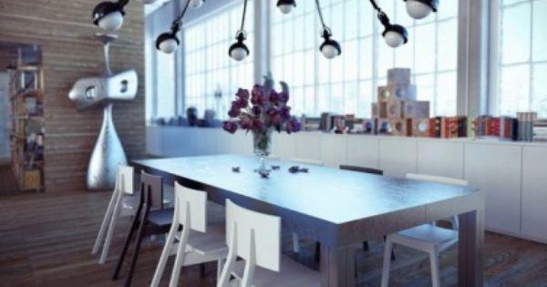 industrial-dining-room, Designchen, Bücher, Designermöbel ...
