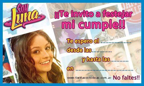 Soy Luna 2 Tarjeta De Cumpleaños Para Imprimir