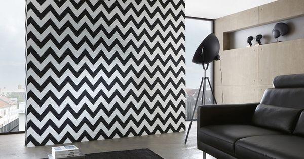 Living walls metropolis behang 93943 1 zwart wit behang behang - Fries behang wall ...