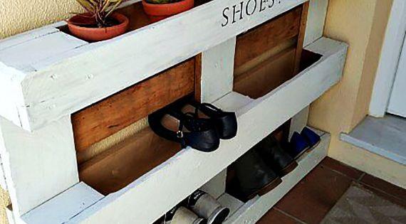 paletten m bel selber bauen wohnideen f r schuhregal selber bauen diy m bel aus paletten. Black Bedroom Furniture Sets. Home Design Ideas