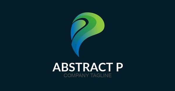 Abstract P logo template for corporate and business