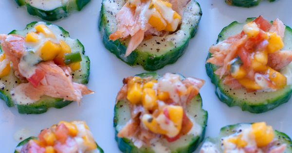Cucumber Rounds With Smoked Salmon And Lime Aioli Recipe — Dishmaps