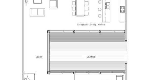 Modern minimalist narrow house floor plan from architecture floor plans - Small narrow house plans minimalist ...