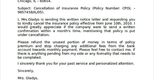 Cancel Auto Insurance Letter Budget Car Phone Number Cancellation