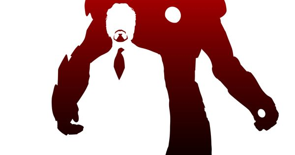 Cool use of negative space | The invincible Iron Man poster
