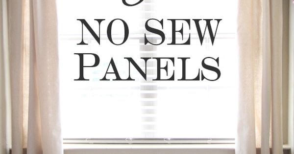 no sew curtain panels from a drop cloth