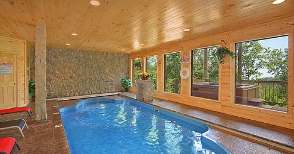 Splashing Sunrise Private Indoor Heated Pool Log Cabin 2