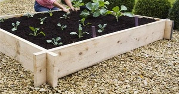 Front yard! quick and easy interlocking raised bed construction