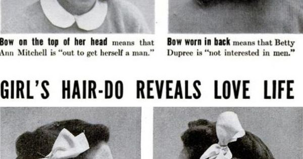 LIFE Magazine: Girl's hairdo reveals love life
