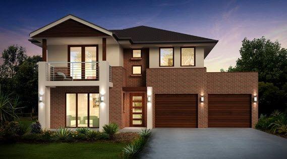 Dise o de casa de dos pisos con dos garages casas y for Disenos de casas 2 pisos