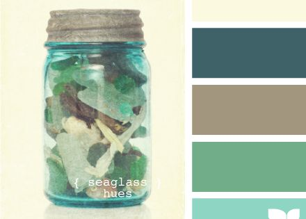 Color palette inspired by sea glass.