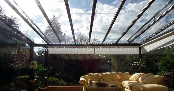 cerramiento de terraza con techo de cristal cerramientos