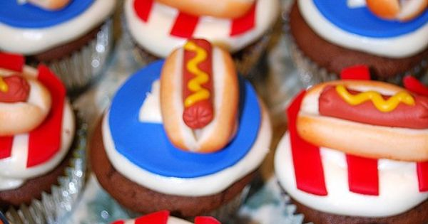 4th of July Cupcakes fourth of july fourthofjuly party idea ideas funideas
