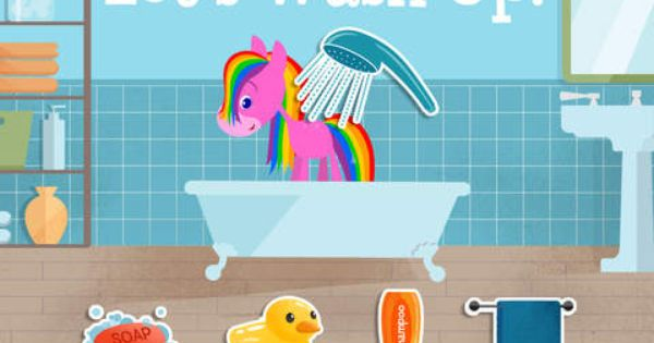 My Pet Rainbow Horse Virtual Pet Game For Kids On The App Store Pet Games For Kids Virtual Pet Animal Games