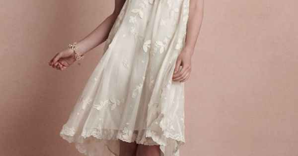 Maybe the perfect beach wedding dress!! Kauai Dress from BHLDN