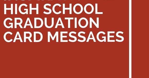 19 Inspirational High School Graduation Card Messages