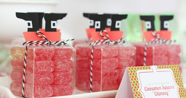 Love this santa-inspired candy packaging