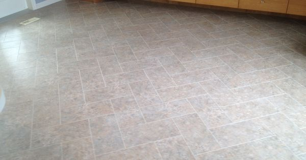 Armstrong Alterna Tile Done In A Herringbone Pattern A