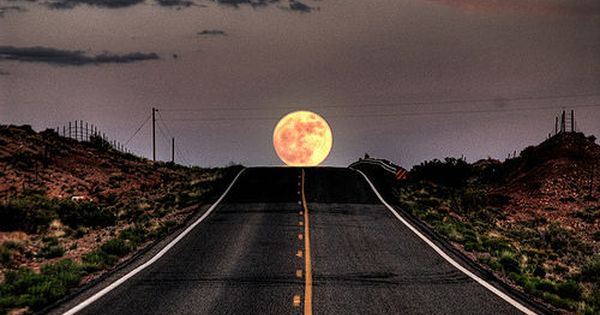 Moonrise Highway Baja California Mexico Scenery Beautiful Moon Cool Pictures