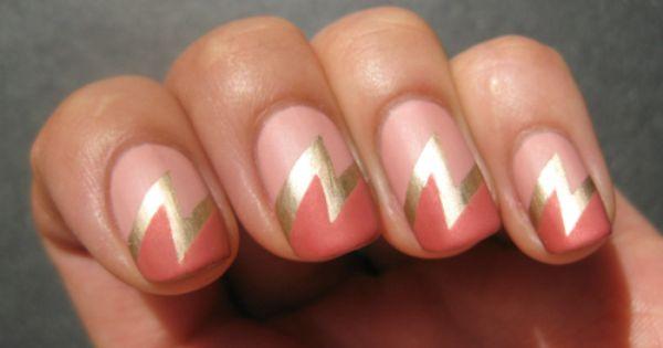 Lightning Bolt super girl nails